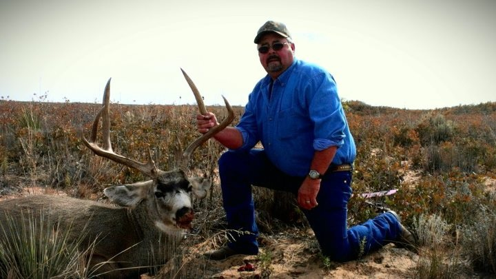 My uncle Dee with his New Mexico muley.
