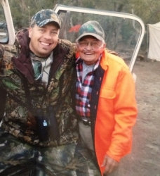 Our last mule deer hunting trip to the Jicaria Mountains in New Mexico, 2011. He hunted there from 1950-2012.